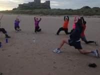 Excercise on Banbourgh Beach