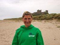 Caroline Smith on the beach